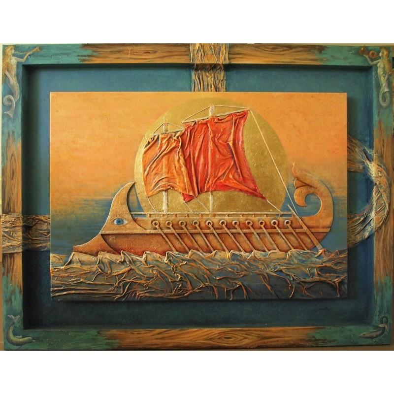ΣΙΔΕΡΑΣ 103Χ133 ΕΛΑΙΟΓΡΑΦΙΑ ΜΕ ΜΙΚΤΗ ΤΕΧΝΙΚΗ ''ΤΡΙΗΡΗΣ'' Σιδεράς Δημήτρης
